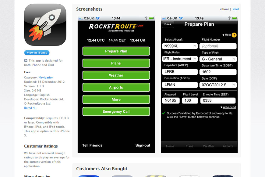 RocketRoute iOS Application