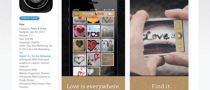 iPhone application Found-Love