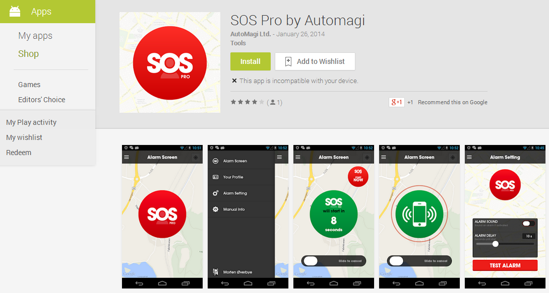 SOS Pro – SaaS solution, Android Application
