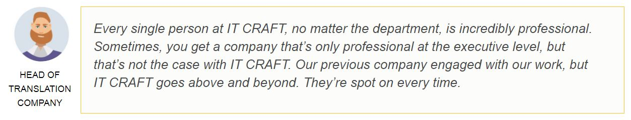 Head of translation company review