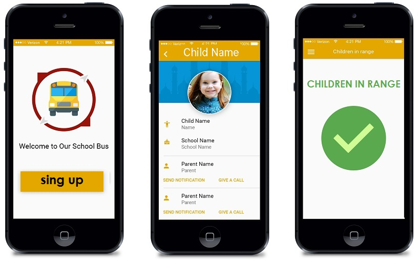 School Bus Application with iBeacon