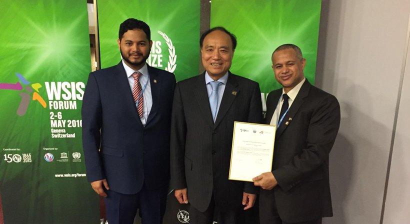 Mustafa Alhashemi Champions in WSIS 2016 Award